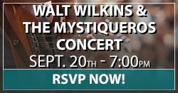 Walt Wilkins Concert RSVP