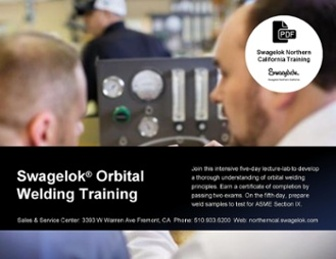 Swagelok Orbital Welding Training