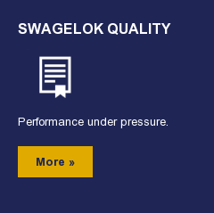 Swagelok Quality  Performance under pressure.  More »