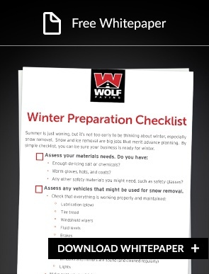 Winter Pavement checklist