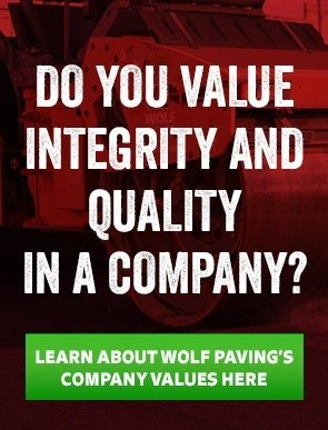 wolf paving company values
