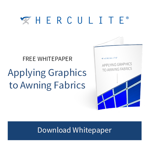 Applying Graphics to Awning Fabrics Herculite Free White paper