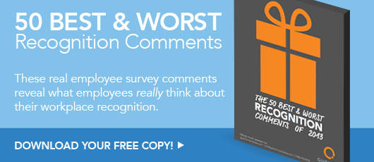 Free ebook! The 50 Best and Worst Employee Recognition Comments