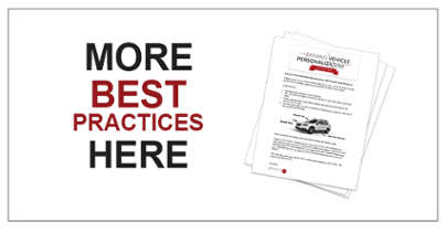 Vehicle Personalization Best Practices
