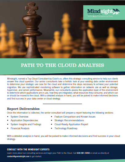 path to the cloud mindsight